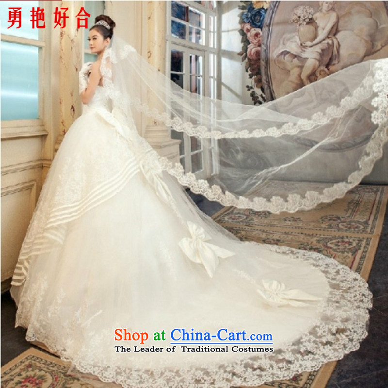 Yong-yeon and 2015 New Bridal Suite Deluxe lace long tail Korean strap sweet princess wedding dresses to align the trailing white streaks in the size is not a replacement for a