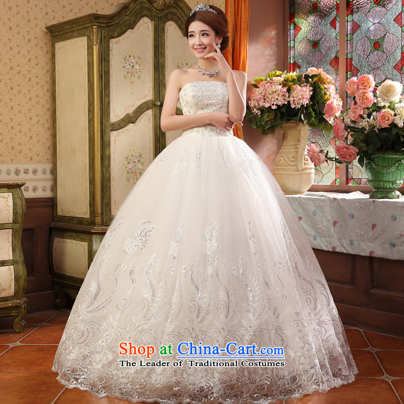 The privilege of serving-leung 2015 new marriages Korean Princess Mary Magdalene chest to bon bon skirt wedding dress white聽S