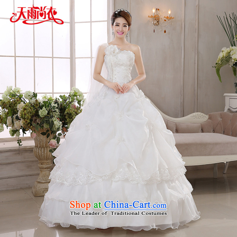 Rain Coat bride 2015 marriage is the new White gauze stylish high-end temperament shoulder flowers diamond Korean style wedding�HS883 good�alignment of the funds from the�M-2 feet