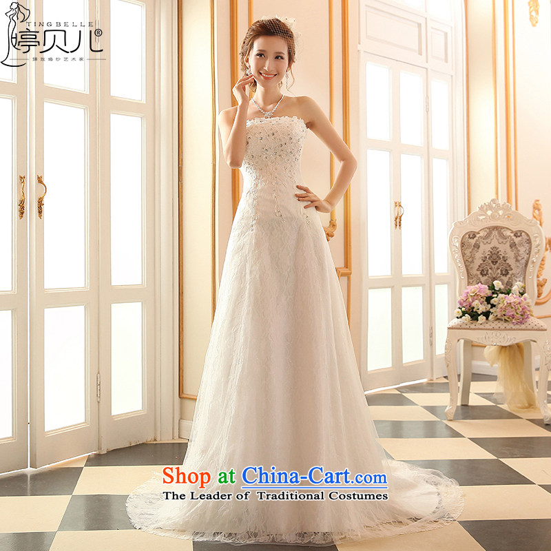 2015 new stylish wedding dresses and chest straps lace to align the Sau San crowsfoot marriages tail spring and summer tail wedding?M