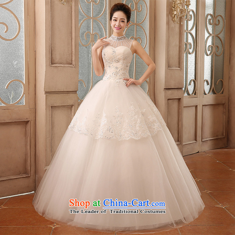 Hiv Miele Wedding 2015 new bride Korean lace Diamond Flower anointed chest collar princess shoulder to align graphics Sau San thin yarn strap H-77 white?L