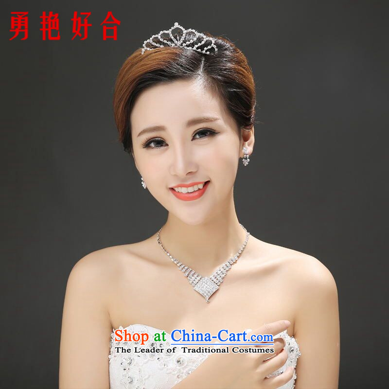 Wedding dress accessories female jewelry crown _15 necklaces, earrings, bracelets rings _25 White Kit