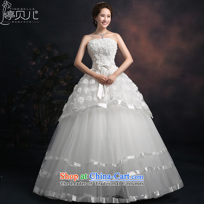 Beverly Ting wedding dresses 2015 new spring and summer wedding dresses Lace Embroidery wiping the chest to align the marriage Korean large wedding white S