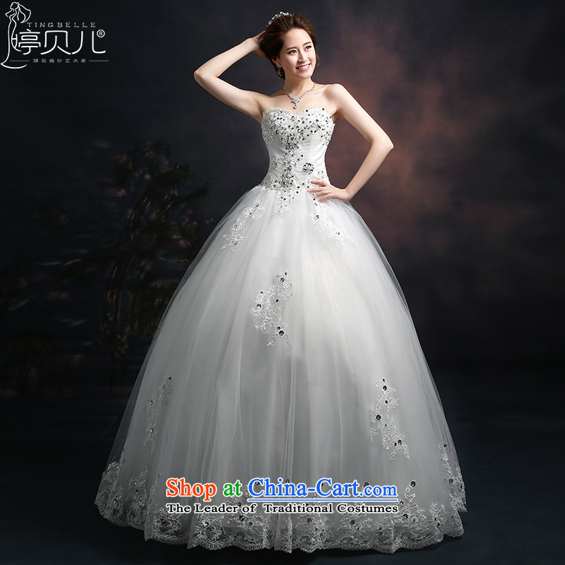 Beverly Ting Wedding 2015 new stylish spring and summer to align the bride, wipe the chest diamond Sau San won video graphics thin wedding summer lace White XL