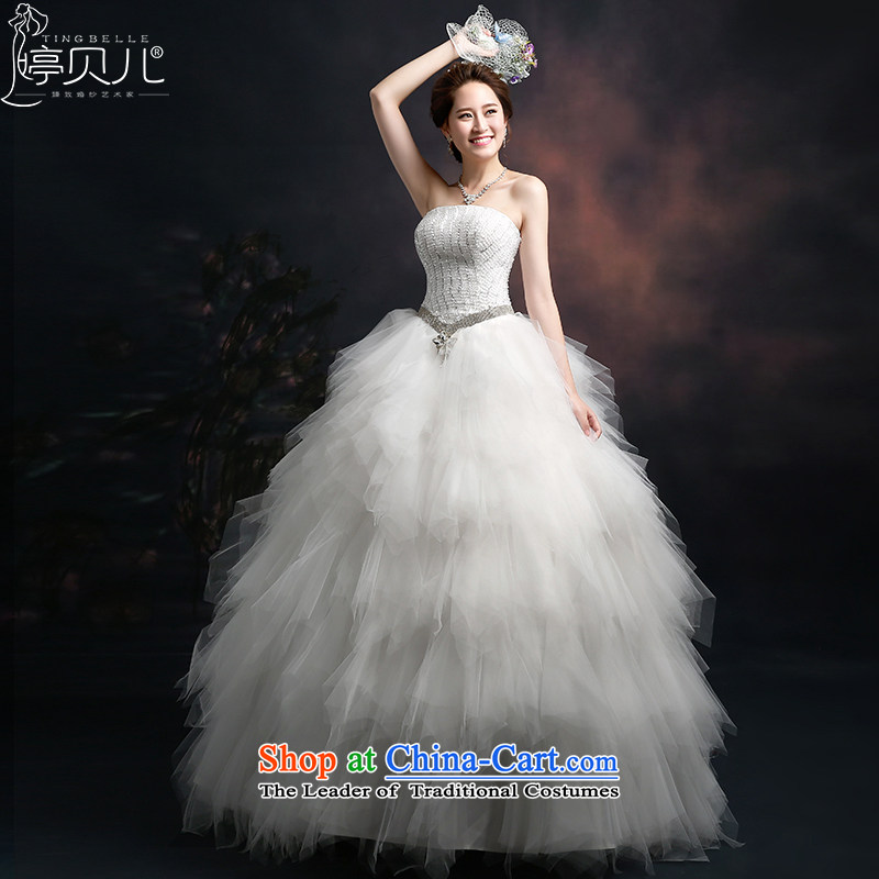 Beverly Ting wedding dresses in spring and summer 2015 new stylish Korean anointed chest Foutune of video thin lace to align the luxurious wedding dresses White M