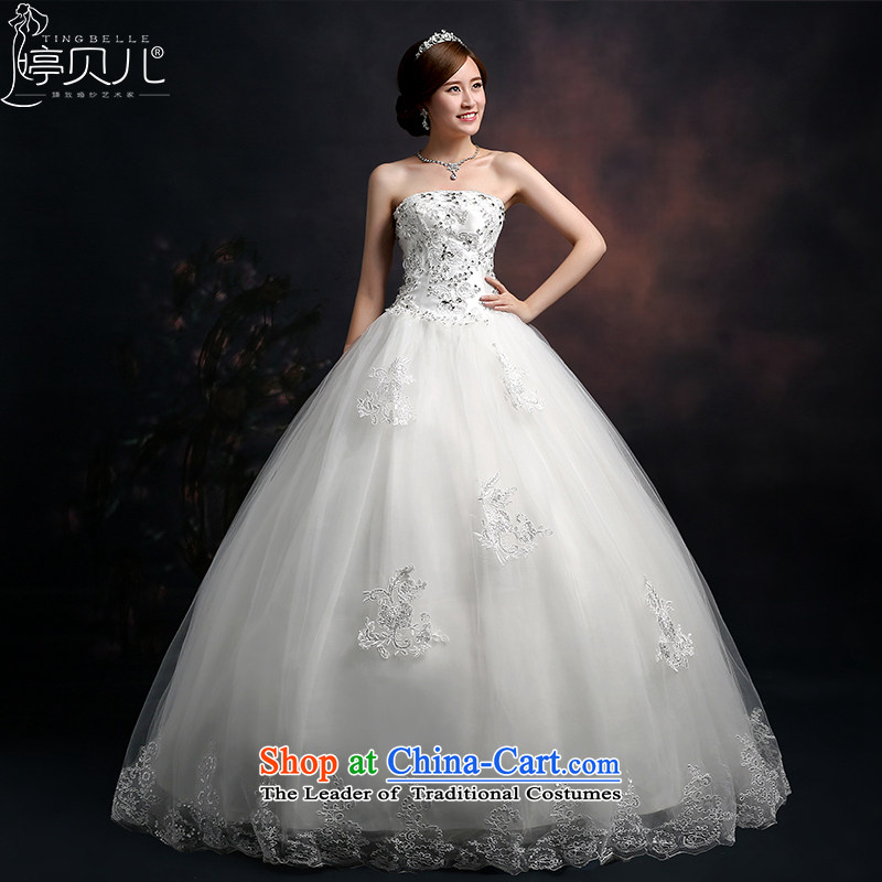 Beverly Ting wedding dresses new 2015 new spring and summer diamond elegant big white straighten with chest in Sau San waist bon bon skirt female white?M