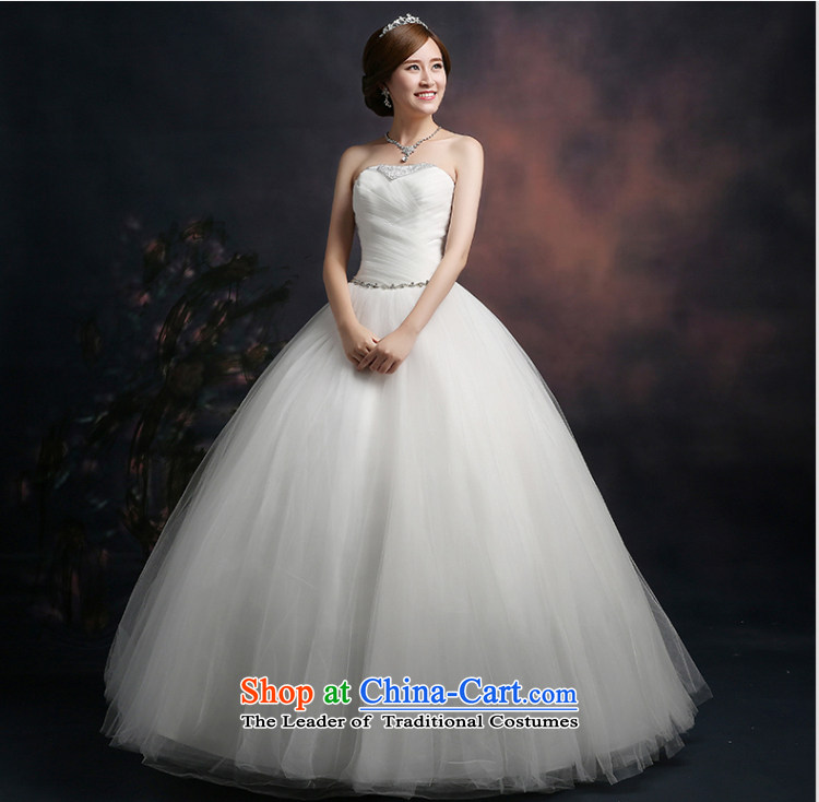 Beverly Ting wedding dresses in spring and summer 2015 new stylish Korean anointed chest wedding video thin straps Sau San alignment of the funds from the white M picture, prices, brand platters! The elections are supplied in the national character of distribution, so action, buy now enjoy more preferential! As soon as possible.