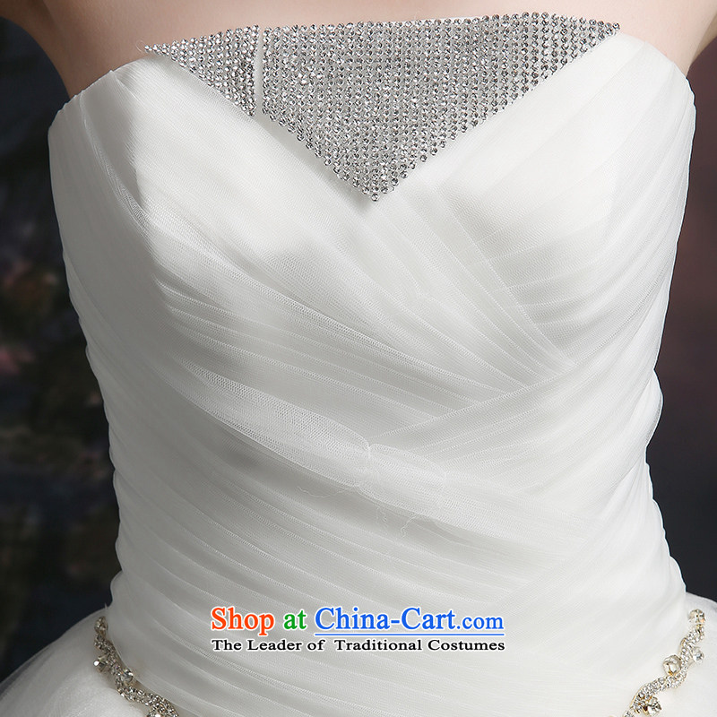 Beverly Ting wedding dresses in spring and summer 2015 new stylish Korean anointed chest wedding video thin straps Sau San alignment of the funds from the white M, Beverly (tingbeier ting) , , , shopping on the Internet