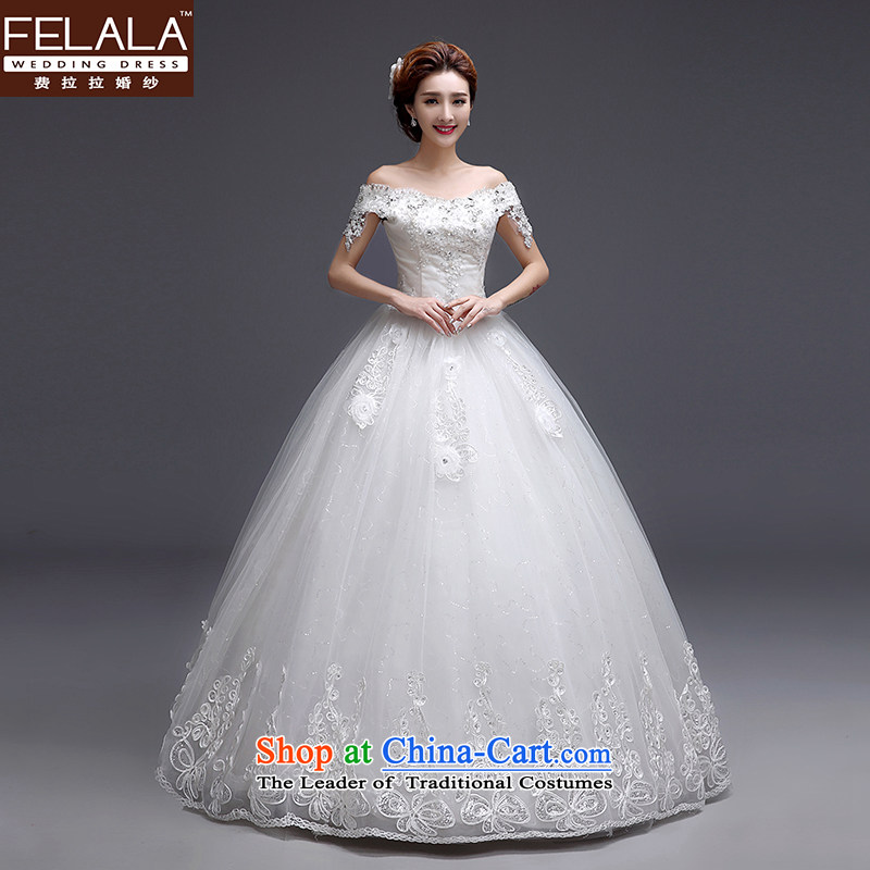 Ferrara 2015 new wedding Korean word sweet water shoulder straps drill bon bon skirt wedding XL(2 feet 2)