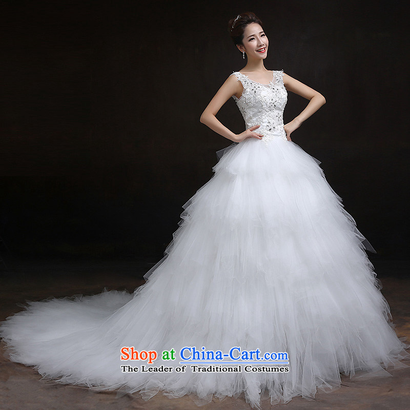 According to Lin Sha 2015 new marriages wedding dresses retro lace Foutune of video word thin shoulders major tail wedding custom are code