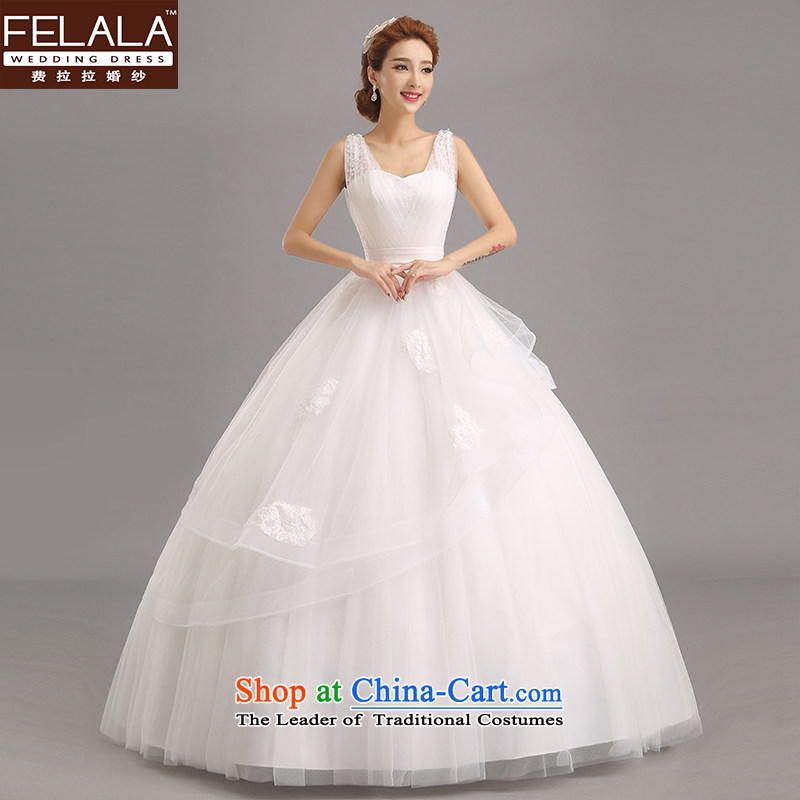 Ferrara?2015 new beaded water drilling marriages romantic sweet bon bon skirt?L(2 feet 1)
