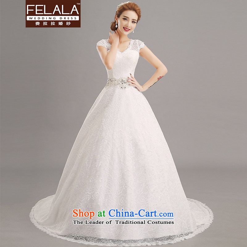 Ferrara 2015 new wedding dresses marriages large Antique Lace diamond wedding dresses trailing M(2 feet)