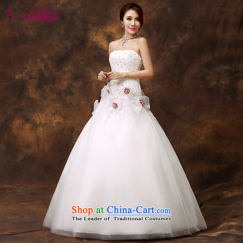 According to Lin Sha wedding dresses 2015 new A Swing Sau San video thin stylish Korean wiping the chest sweet Princess Bride marriage wedding dresses tailored contact customer service