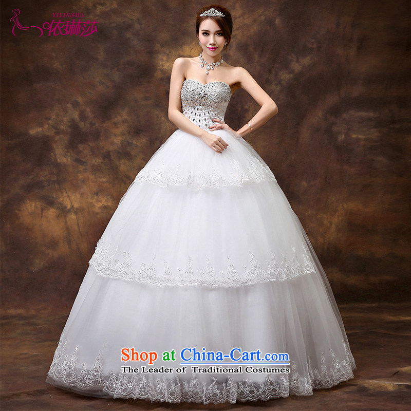 According to Lin Sha Wedding 2015 new upscale diamond straps and chest wedding dresses to align the Korean version of the Princess Bride wedding tailored contact customer service