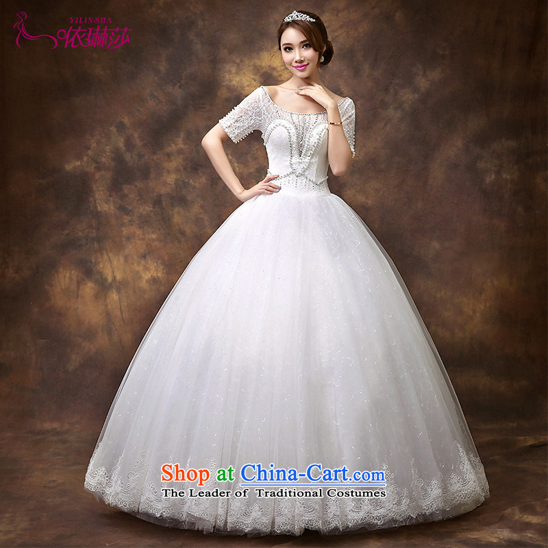 According to Lin Sha 2015 new word wedding dresses shoulder-wedding lace video thin large wedding nail-ju are code