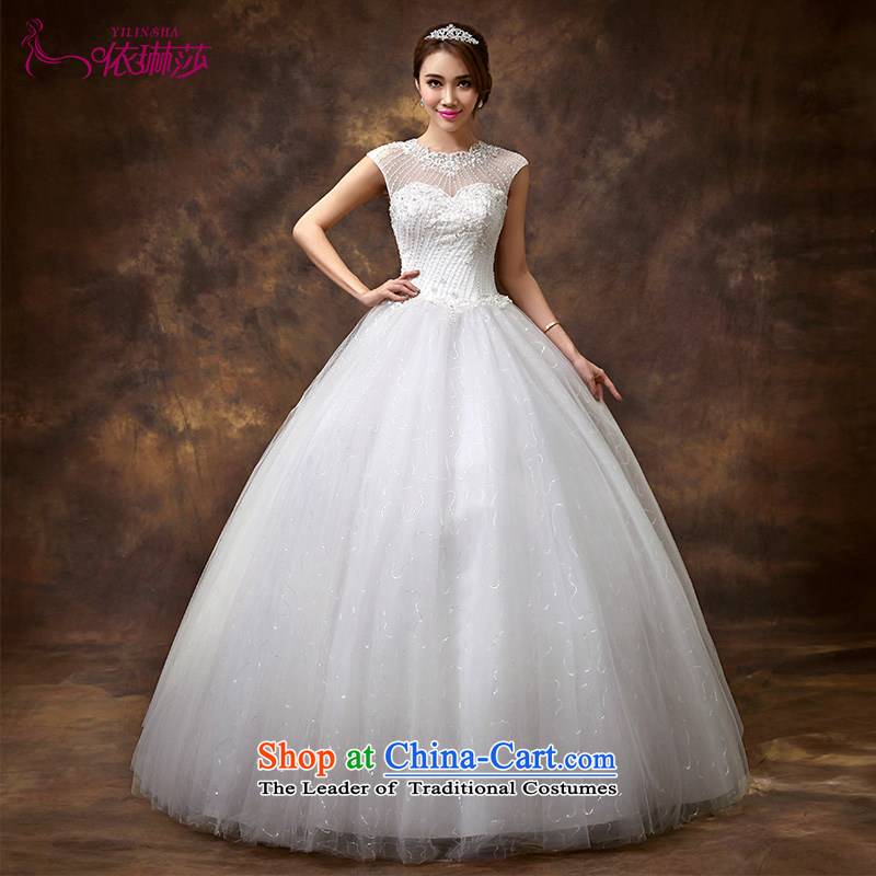 Wedding dresses new 2014 autumn and winter larger shoulder for half a long-sleeved Korean modern marriages to align the?M