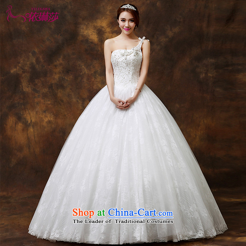 The bride wedding dresses?2014 new Korean Edition click Align the shoulder to graphics thin diamond jewelry lace wedding?S