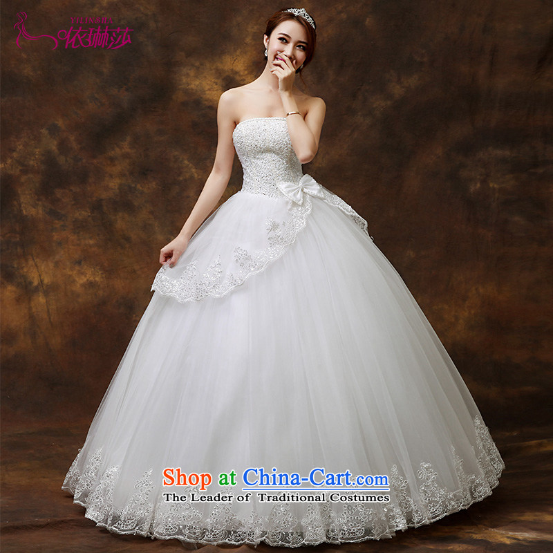 Wedding dresses new 2015 new Korean brides to align the white slim body diamond wiping the chest wedding聽L