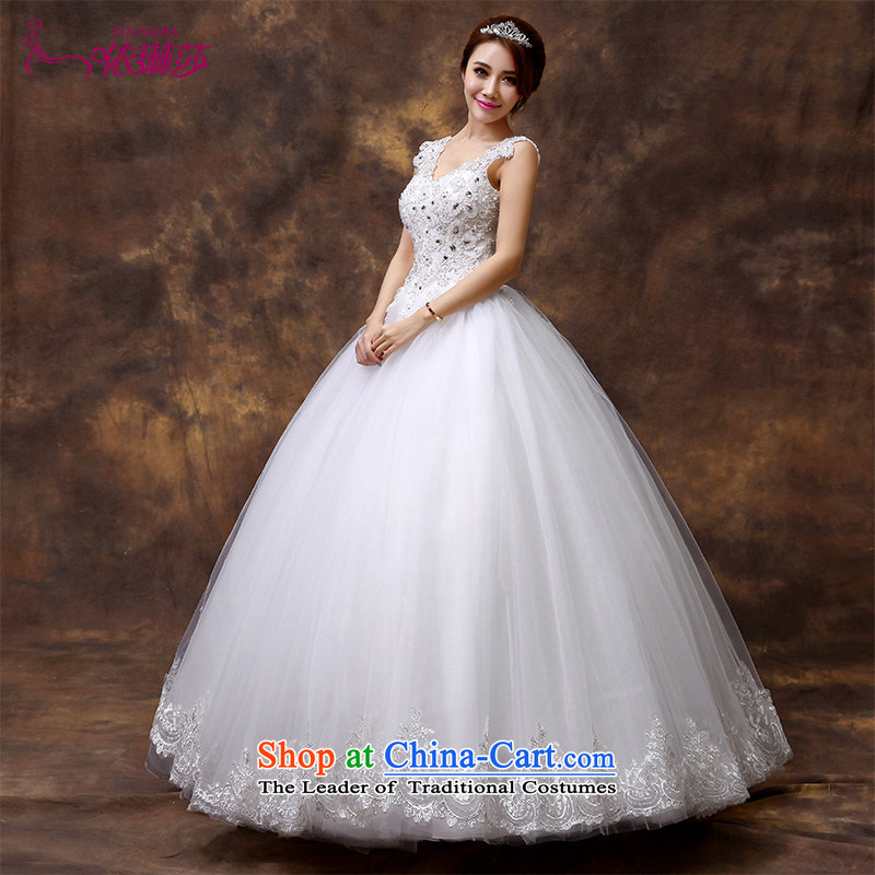 2015 new marriages wedding Korean word bride who decorated shoulder graphics thin wedding out of alignment with wedding?M