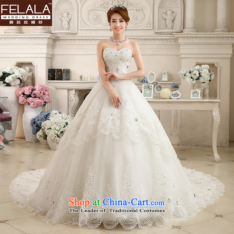 Ferrara? 2015 new lace anointed chest parquet drill large tail Korean winter of Sau San video thin thick wedding?L(2 feet 1)