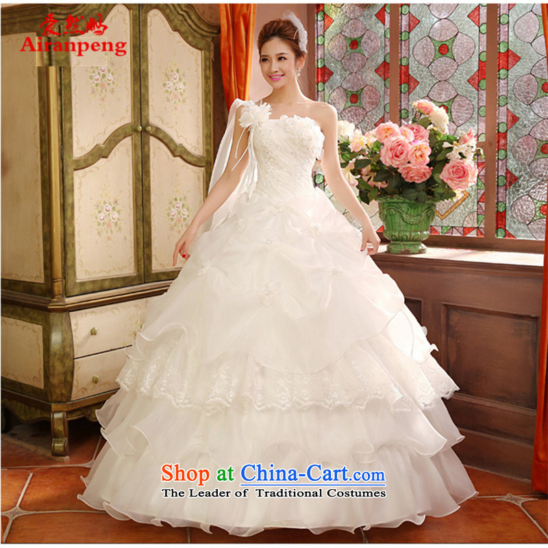 Love So Peng New 2015 wedding dresses and stylish Korean style to align the shoulder larger Fat MM video thin wedding spring, summer, autumn and classic style?M package returning