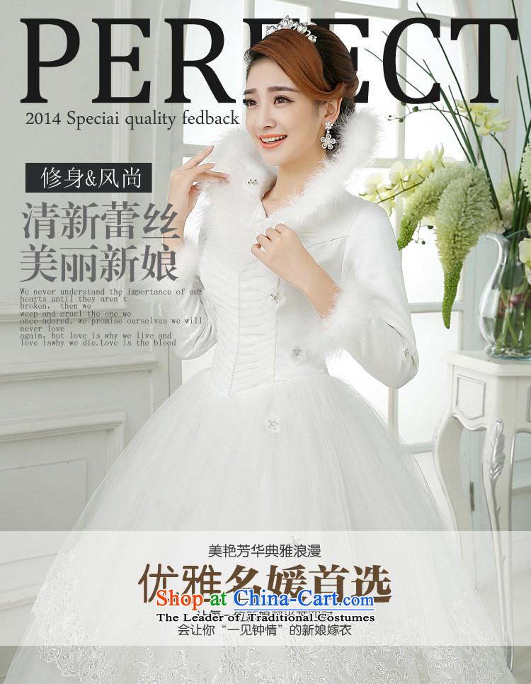 Embroidered is by no means a bride wedding dresses new 2015 warm winter thick collar gross winter bride winter long-sleeved wedding White M 2 feet waist Suzhou shipment picture, prices, brand platters! The elections are supplied in the national character of distribution, so action, buy now enjoy more preferential! As soon as possible.
