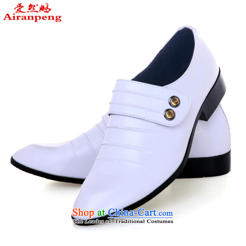 Lisa Philip Yung white shoes men married Married shoes stage shoes, Fashion Shoes, performance shoe wedding photography shoes, white 43 is ER90 code