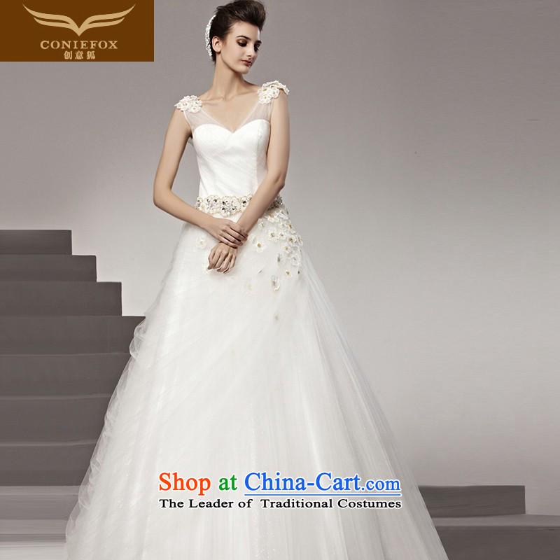 The kitsune Creative wedding dresses tailored wedding charming and elegant look sexy bride wedding marriage wedding white dream wedding 90162 tailored White