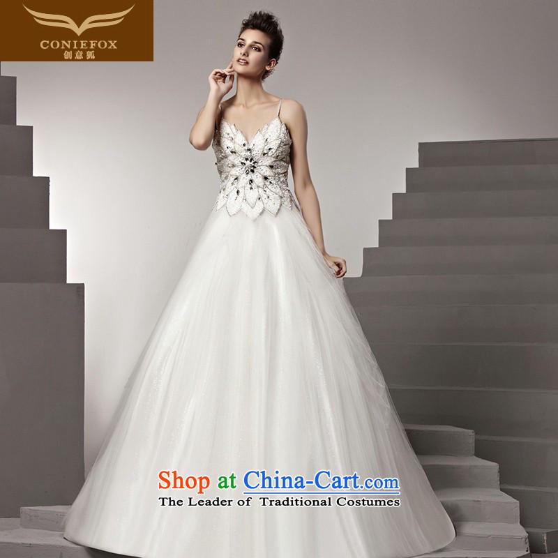 The kitsune Creative wedding dresses tailored wedding irrepressible stylish diamond wedding canopy ponzi to wedding of wedding photography wedding 90163 tailored White