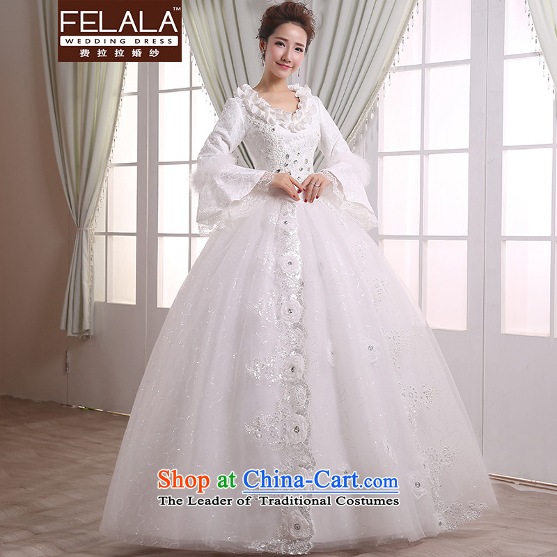 Ferrara�2015 new bride winter thick warm lace Plate flower water drilling wedding�L(2 feet 1)