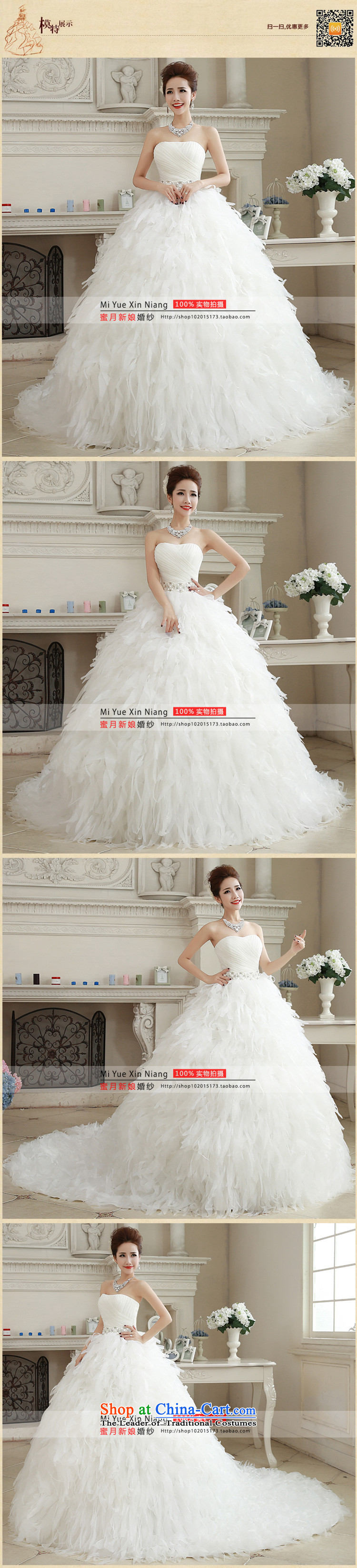 Honeymoon bride wedding dresses聽2015 Winter, wedding classic wiping the Chest Korean Princess feather tail wedding white聽picture, prices, S brand platters! The elections are supplied in the national character of distribution, so action, buy now enjoy more preferential! As soon as possible.