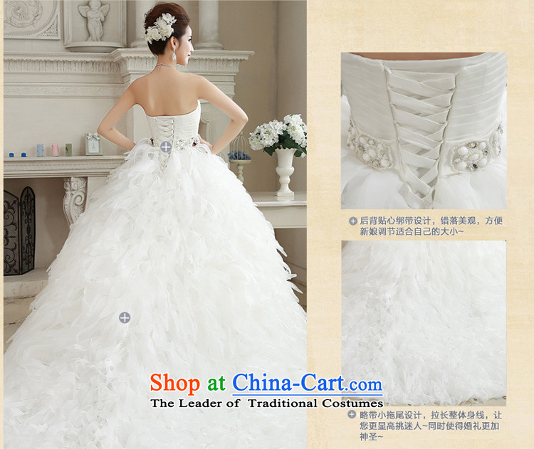 Honeymoon bride wedding dresses2015 Winter, wedding classic wiping the Chest Korean Princess feather tail wedding whitepicture, prices, S brand platters! The elections are supplied in the national character of distribution, so action, buy now enjoy more preferential! As soon as possible.