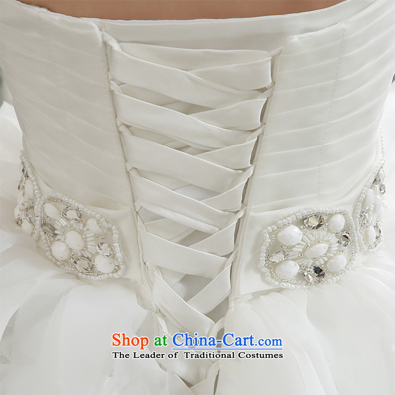Honeymoon bride wedding dresses2015 Winter, wedding classic wiping the Chest Korean Princess feather tail wedding whiteS honeymoon bride shopping on the Internet has been pressed.