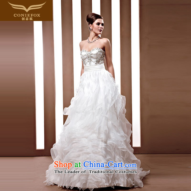 The kitsune Creative wedding tailor the Korean style wedding fashion marriages wedding to align the white wedding dresses 90,036 White tailored