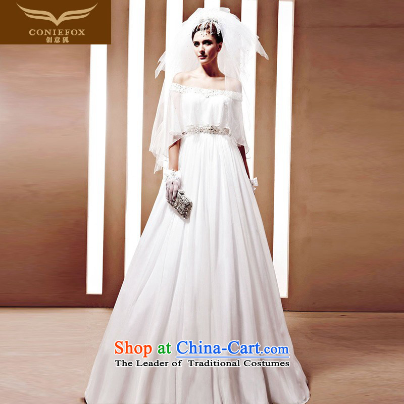 The kitsune Creative wedding tailored bride wedding Custom High End custom white wedding dresses Korean wedding 90020 tailored White