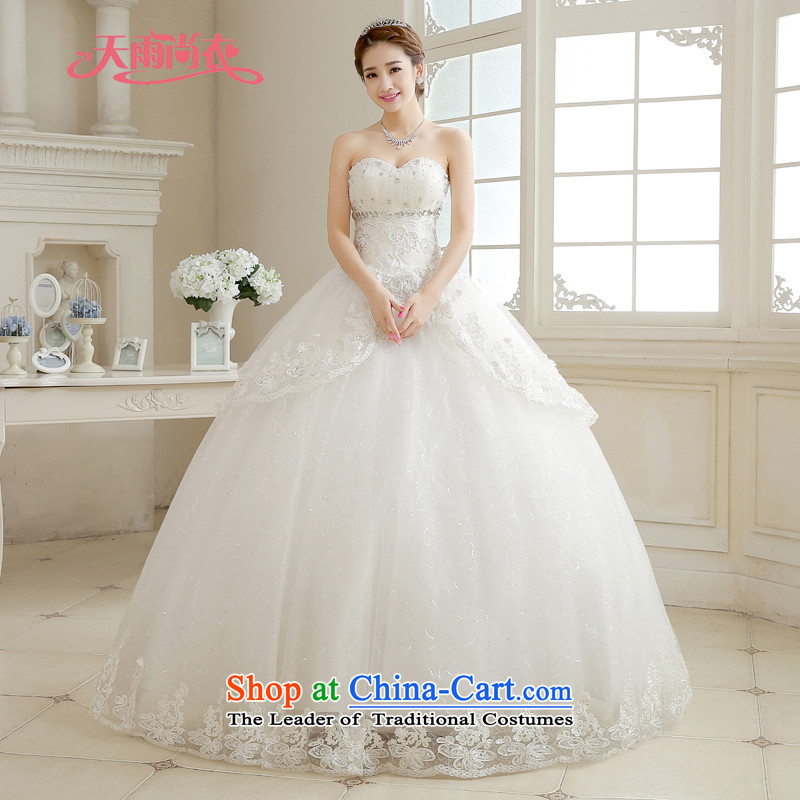 Rain-sang Yi marriages 2015 new bride large hotel winter wedding Diamond White bon bon align to bind the princess HS888 with white?M