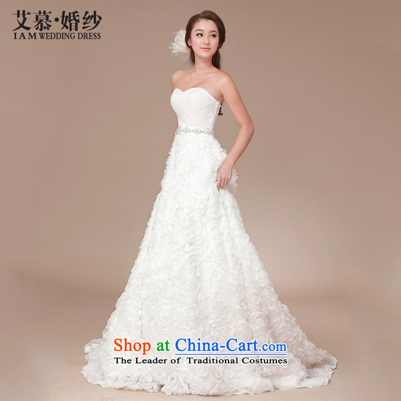 The 2015 new HIV wedding sweet fragrance graphics slender tail wedding dresses large elegant anointed chest Korean?S