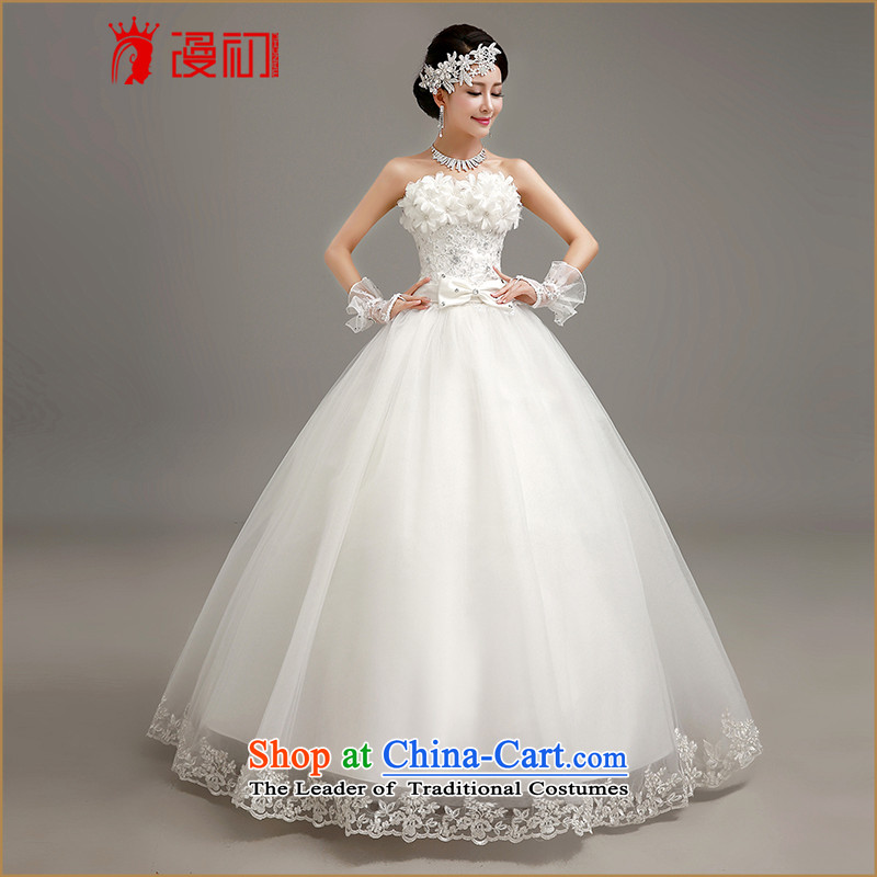 At the beginning of the New Year 2015 man anointed chest wedding Korean flower thin white summer graphics princess bon bon skirt white dresses made contact customer service