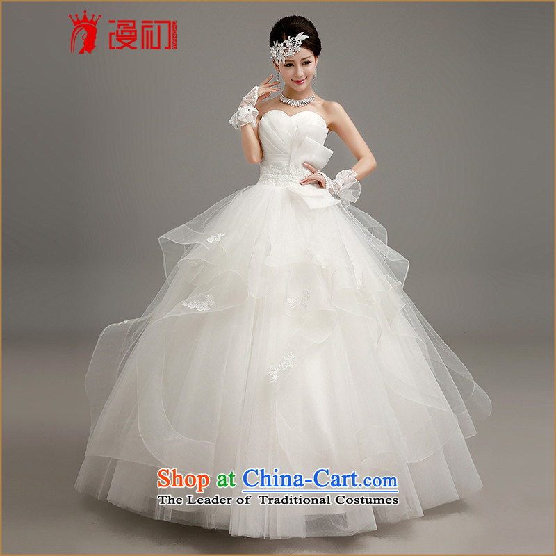 In the early聽2015 new man wedding dresses Korean skirt to align bon bon wedding wiping the chest to align graphics thin princess straps wedding white聽L code, spilling the early shopping on the Internet has been pressed.
