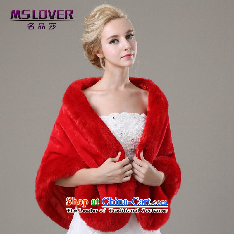 ?Wedding dress in spring and autumn mslover warm winter partner xlarge plush edge marriages shawl?FW131102 gross?red