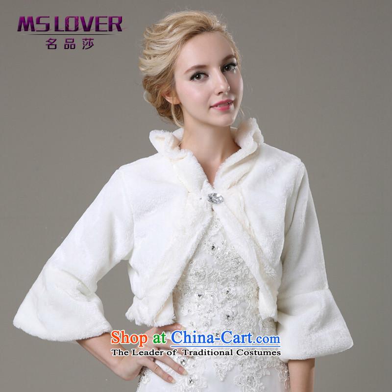 Korean horn cuff mslover velvet marriages gross shawl warm jacket, a weddingFW131109m White