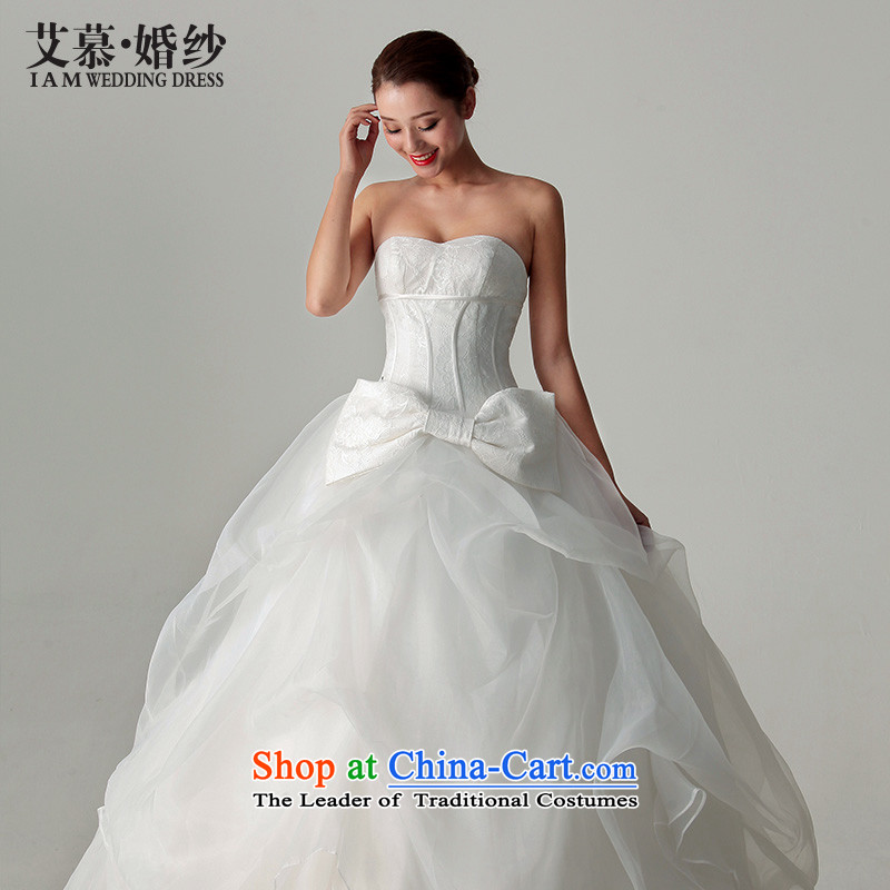 The聽2015 new HIV wedding to align the Sun Hei bon bon lace Butterfly Festival marriages wedding dresses White聽M