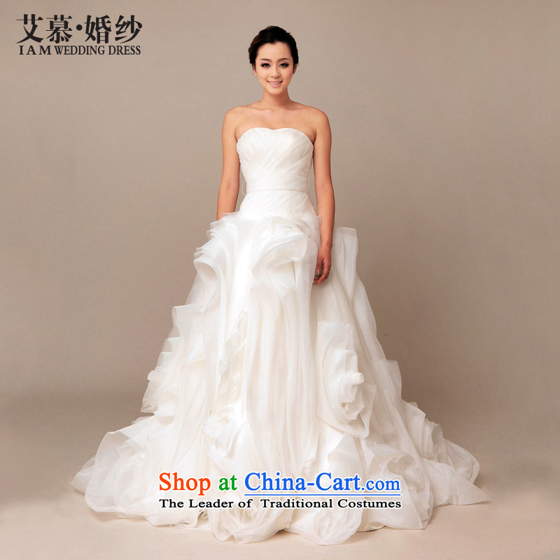 The 2015 new HIV Classic Korean Princess Bride of OSCE root tail wedding photography bows bridesmaid wedding dress crystal waistband tailored)
