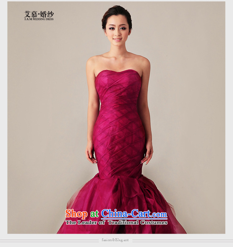 The 2015 new HIV red mermaid crowsfoot tail Korean wedding dresses wine red straps, tailored picture, prices, brand platters! The elections are supplied in the national character of distribution, so action, buy now enjoy more preferential! As soon as possible.