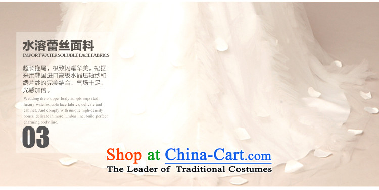 The 2015 new HIV wedding budding lace shawl Korean Princess tail wedding ivory L picture, prices, brand platters! The elections are supplied in the national character of distribution, so action, buy now enjoy more preferential! As soon as possible.