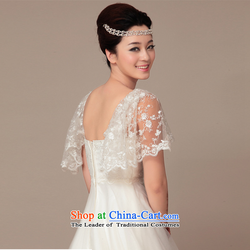 The 2015 new HIV wedding budding lace shawl Korean Princess tail wedding ivory , L, HIV in , , , shopping on the Internet
