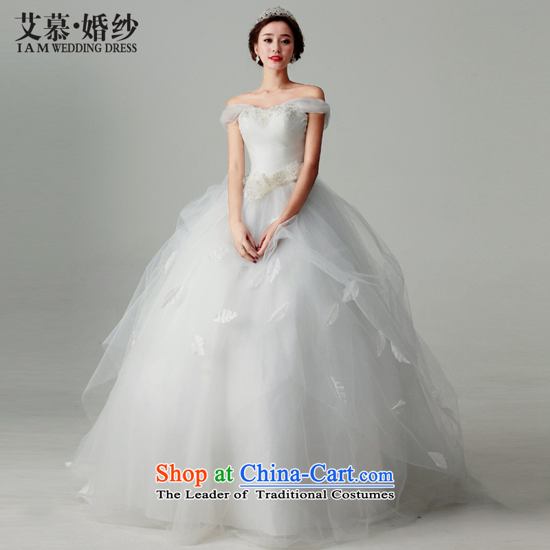 The 2015 new HIV wedding dresses indus rain field shoulder bon bon skirt to align paragraph L