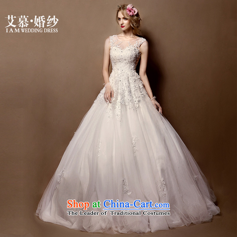 The?2015 new HIV the fuser lace semi permeable to erase chest princess bon bon skirt bride wedding dresses white?S