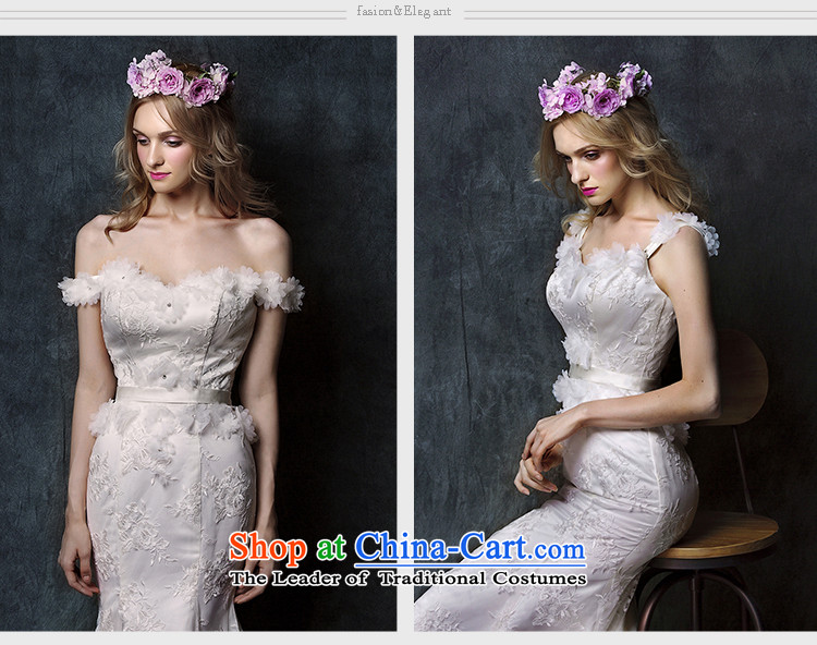 The 2015 new HIV Miu light depilation lace chest straps crowsfoot tail bride wedding dress White M picture, prices, brand platters! The elections are supplied in the national character of distribution, so action, buy now enjoy more preferential! As soon as possible.