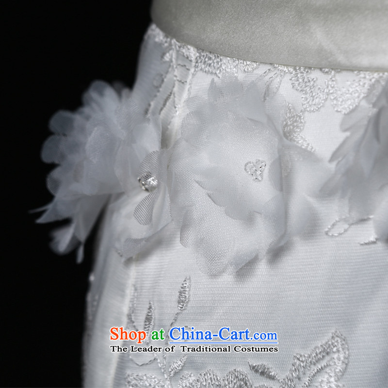 The 2015 new HIV Miu light depilation lace chest straps crowsfoot tail bride wedding dresses White M HIV in , , , shopping on the Internet